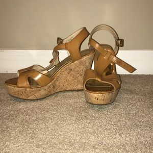 Cathy Jean Brown Wedges (size 10)